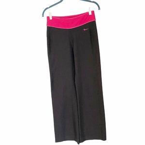 Nike black/pink activewear leggings size XS